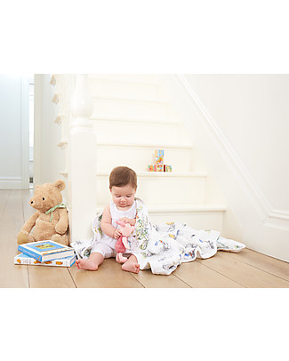 Aden & Anais Dream Blanket, 120 x 120 cm  - Winnie the Pooh - 100% Cotton Muslin Blankets
