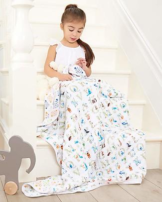 Aden & Anais Dream Blanket  - Favole - 100% Cotton Muslin (120x120 cm) Blankets