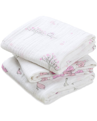 Aden & Anais For The Birds Musy - Multiuse Muslin Cloths - 3 pack - 100% cotton muslin - 70 x 70 cm Muslin Cloths