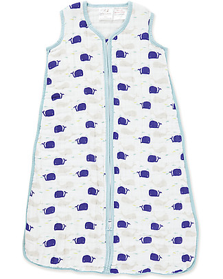 Aden & Anais High Seas Cozy Plus™ Sleeping Bag 1.7 TOG - Cotton Muslin (for even the coldest nights!) Warm Sleeping Bags