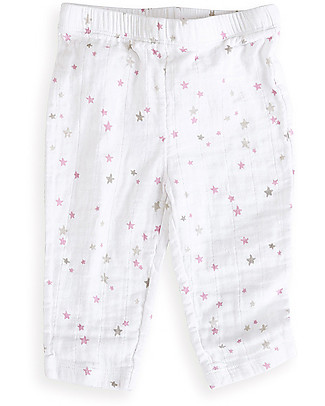 Aden & Anais Lovely Elastic Waist Pants - Cotton Muslin! Trousers