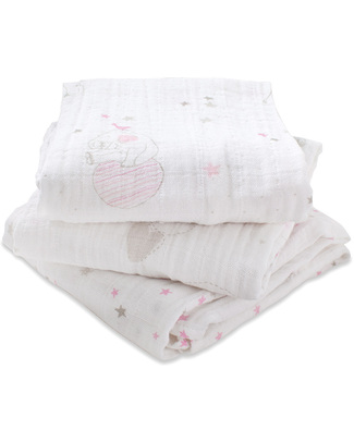 Aden & Anais Lovely Musy - Multi-use Muslin Cloths - 3 pack - 100% cotton muslin - 70 x 70 cm Muslin Cloths