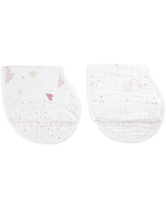 Aden & Anais Lovely Set of 2 Burpy Bibs® - 100% Cotton Muslin Burpy Bibs