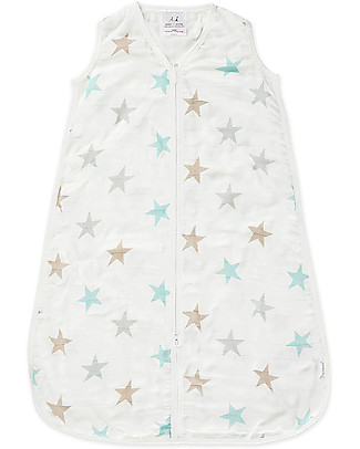 Aden & Anais Milky Way Multi-Stars Sleeping Bag - 1 TOG - 100% Bamboo - The coolest sleep sack for summer Light Sleeping Bags