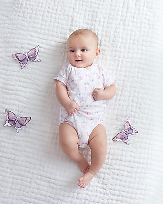 Aden & Anais Mini Fluter - Short Sleeve Kimono Bodysuit - Cotton Muslin! Short Sleeves Bodies