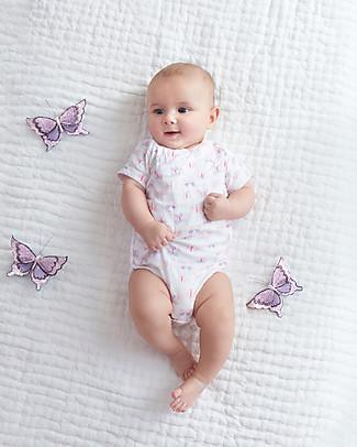 Aden & Anais Mini Fluter - Short Sleeve Kimono Bodysuit - Cotton Muslin! Short Sleeves Bodies