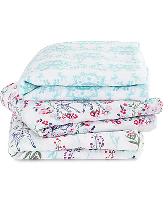 Aden & Anais Multi-use Muslin Cloths - Bambi - 3 pack - 100% cotton muslin - 70 x 70 cm Muslin Cloths