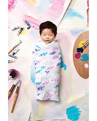 Aden & Anais Multi-use Swaddle - Wink -100% Bamboo Muslin  Swaddles