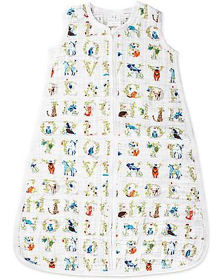 Aden & Anais Paper Tales Classic Sleeping Bag - 1 TOG - 100% Cotton Muslin (Lightweight) Light Sleeping Bags