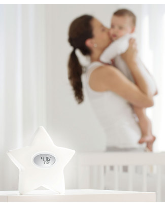 Aden & Anais Serenity Star 5 in 1: Night Light, Clock, Thermometer, Feeding Diary, Sound Machine Nightlights