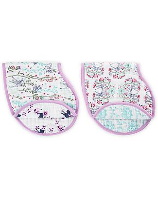 Aden & Anais Set of 2 Burpy Bibs® - Bambi - 100% Cotton Muslin Burpy Bibs