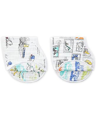 Aden & Anais Set of 2 Burpy Bibs® - Winnie the Pooh - 100% Cotton Muslin Burpy Bibs