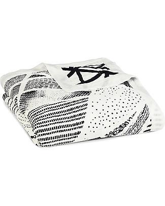 Aden & Anais Silky Soft Midnight Dream Blanket - 100% Bamboo Muslin (120x120 cm) Blankets
