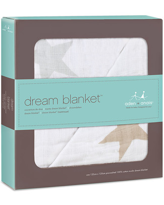 Aden & Anais Super Star Scout Dream™ Blanket - 100% Cotton Muslin (120 cm x 120 cm) Blankets