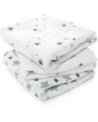 Aden & Anais Twinkle Musy - multiuse Muslin cloths - 3 pack - 100% cotton muslin - 70 x 70 cm Muslin Cloths