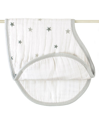 Aden & Anais Twinkle Star 2-in-1 Burpy Bibs - 2 pack - 100% muslin cotton (multi-functional - grows with your baby!) Burpy Bibs
