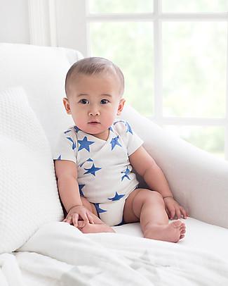 Aden & Anais Ultramarine - Medium Star - Short Sleeve Kimono Bodysuit - Cotton Muslin! Short Sleeves Bodies