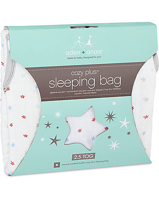 Aden & Anais Vintage Circus Cozy Plus™ Sleeping Bag 2.5 TOG - Cotton Muslin (for even the coldest nights!) Warm Sleeping Bags