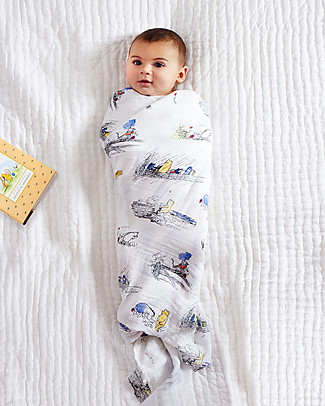 Aden & Anais Winnie the Pooh Classic Swaddles Set of 4 Multi-use 100% Cotton Muslin Swaddles