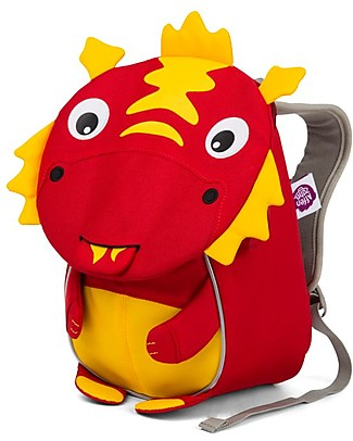 Affenzahn Kids Backpack 1-3 years, Dario Dragon- Eco-friendly and playful! Small Backpacks