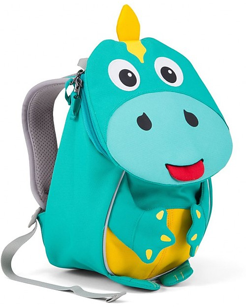 Affenzahn Kids Backpack 1-3 years, Dirk Dinosaur - Eco-friendly and playful! Small Backpacks