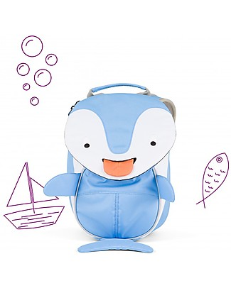 Affenzahn Kids Backpack 1-3 years, Doro Dolphin - Eco-friendly and Playful! null