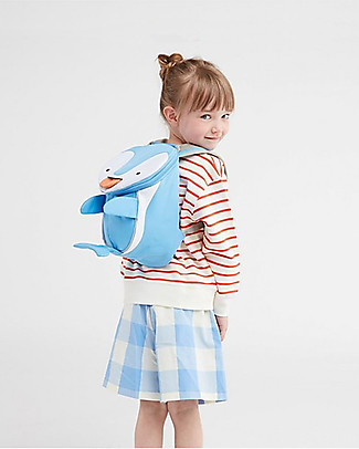Affenzahn Kids Backpack 1-3 years, Doro Dolphin - Eco-friendly and Playful! Small Backpacks