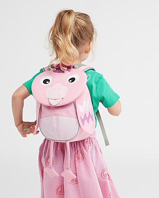 Affenzahn Kids backpack 1-3 years, Finja Flamingo - Eco-friendly and playful! Small Backpacks