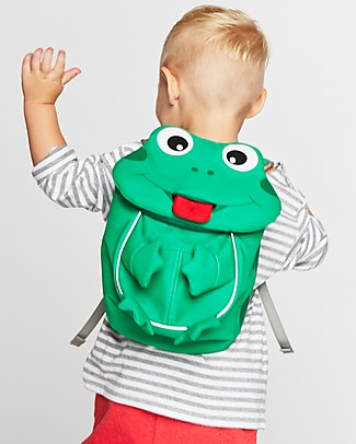 Affenzahn Kids Backpack 1-3 years, Finn Frog - Eco-friendly and playful! Small Backpacks