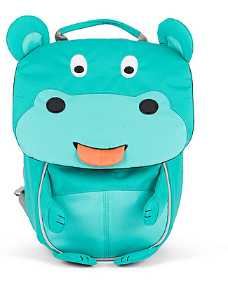 Affenzahn Kids Backpack 1-3 years, Hilda Hippo – Eco-friendly and Playful! Small Backpacks