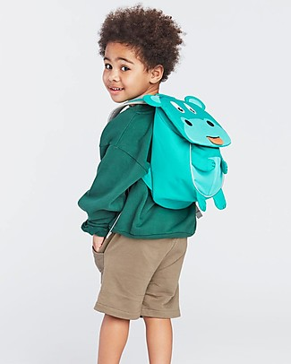 Affenzahn Kids Backpack 1-3 years, Hilda Hippo - Eco-friendly and Playful! Small Backpacks