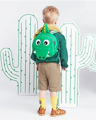 Affenzahn Kids Backpack 1-3 years, Kai Cocodrile- Eco-friendly and playful! Small Backpacks