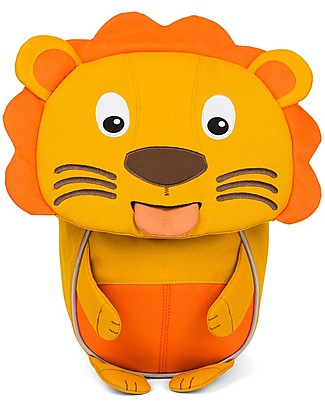 Affenzahn Kids Backpack 1-3 years, Lena Lion Mustard - Eco-friendly and Playful null