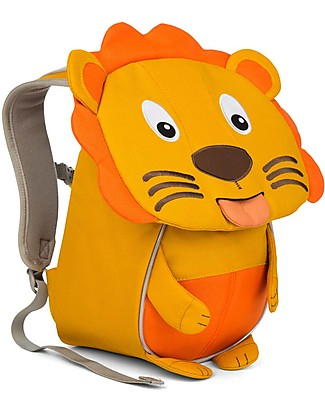 Affenzahn Kids Backpack 1-3 years, Lena Lion Mustard - Eco-friendly and Playful Small Backpacks