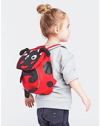 Affenzahn Kids Backpack 1-3 years, Lilly LadyBird - Eco-friendly and playful! Small Backpacks