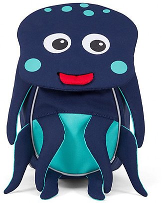 Affenzahn Kids Backpack 1-3 years, Oliver Octopus - Eco-friendly and playful! Small Backpacks