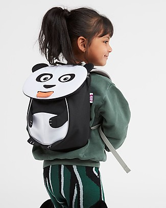 Affenzahn Kids Backpack 1-3 years, Peer Panda - Eco-friendly and playful! Small Backpacks