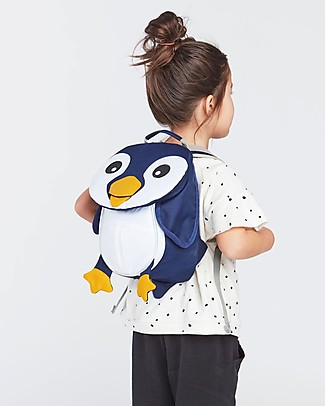 Affenzahn Kids Backpack 1-3 years, Pepe Penguin- Eco-friendly and playful! Small Backpacks
