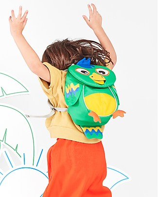 Affenzahn Kids Backpack 1-3 years, Piet Parrot - Eco-friendly and playful! Small Backpacks