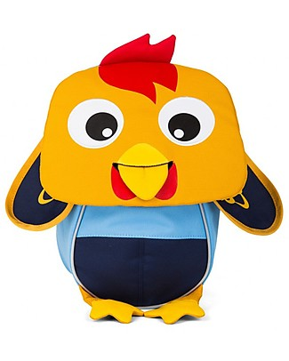 Affenzahn Kids Backpack 1-3 years, Richi Rooster - Eco-friendly and playful! Small Backpacks
