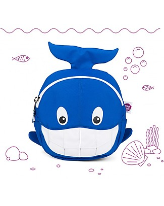 Affenzahn Kids Backpack 1-3 years, Willi Whale - Eco-friendly and Playful! null