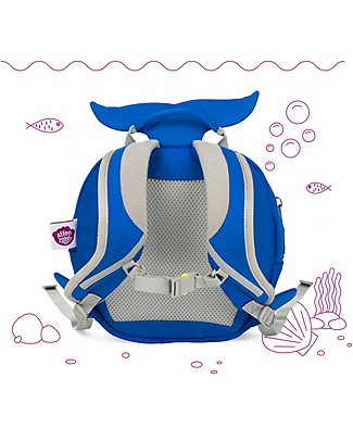 Affenzahn Kids Backpack 1-3 years, Willi Whale - Eco-friendly and Playful! Small Backpacks