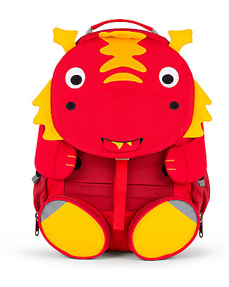 Affenzahn Kids Backpack 3-5 years, Daria Dragon - Perfect for Preschool and Eco-Friendly! Small Backpacks