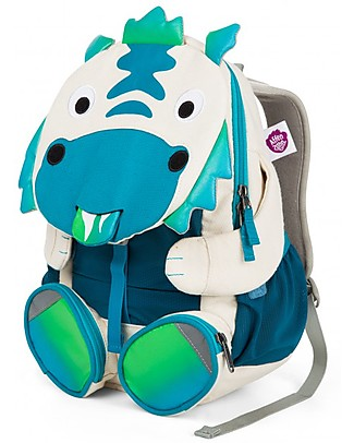 Affenzahn Kids Backpack 3-5 years Diego Dragon - Organic Cotton - Limited edition Small Backpacks