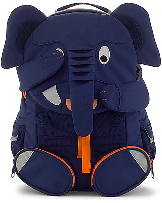 Affenzahn Kids Backpack 3-5 years, Elias Elephant – Perfect for Preschool and Eco-Friendly Small Backpacks
