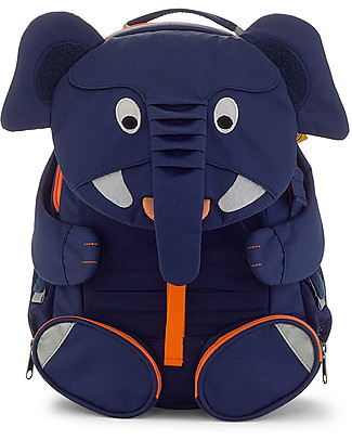 Affenzahn Kids Backpack 3-5 years, Elias Elephant - Perfect for Preschool and Eco-Friendly null