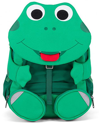 Affenzahn Kids Backpack 3-5 years, Fabian Frog - Perfect for Preschool and eco-friendly! Small Backpacks