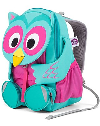 Affenzahn Kids Backpack 3-5 years, Olina Owl - Perfect for Preschool and eco-friendly! Small Backpacks