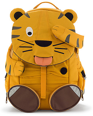 Affenzahn Kids Backpack 3-5 years, Theo Tiger - Perfect for Preschool and Eco-Friendly! Small Backpacks