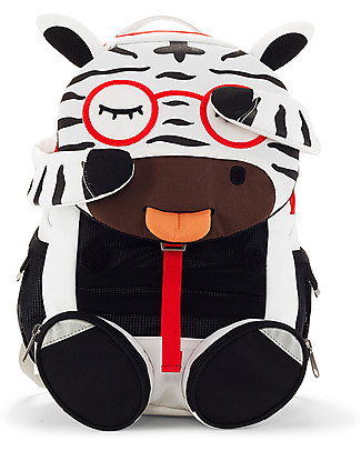 Affenzahn Kids Backpack 3-5 years, Zebra Zena - Perfect for Preschool and Eco-Friendly! Small Backpacks